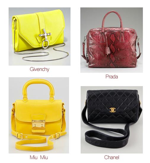 Bags, Prada, Tom Ford, Celine, Miu Miu, Chanel