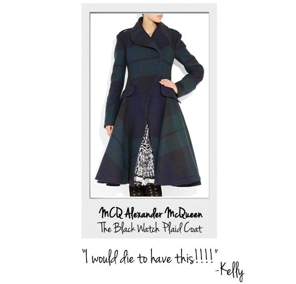 Alexander mcqueen black watch tartan coat