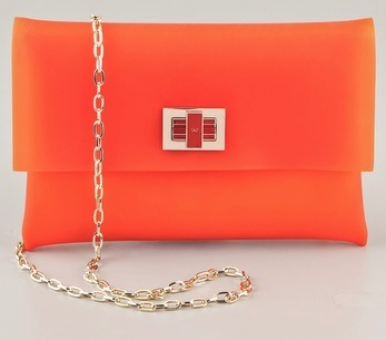 Anya Hindmarch Orange Clutch