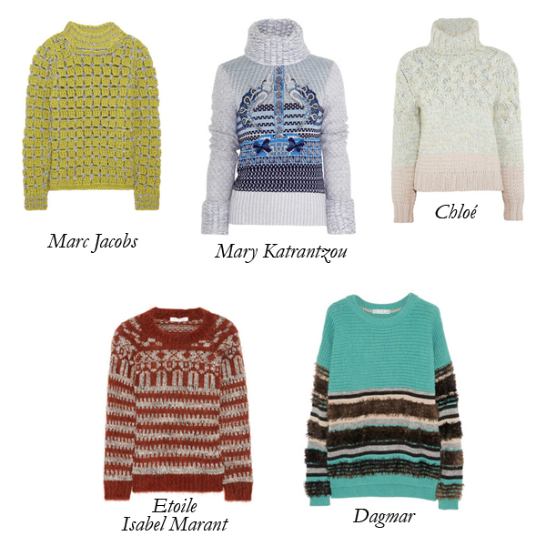 Marc Jacobs, Etoile Isabel Marant, Chloé, Mary Katrantzou, Dagar, Sweater, Wool Chunky Sweater