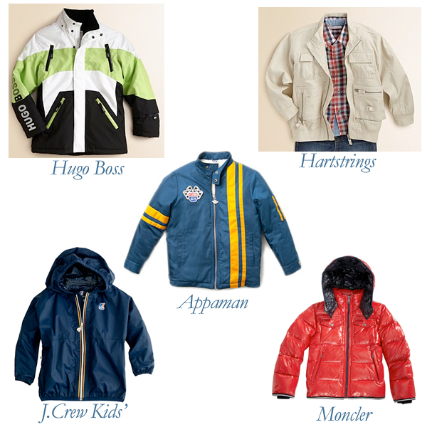 Hugo Boss, Moncler, J.Crew Kids', Hartstrings, Appaman Boys' Jackets