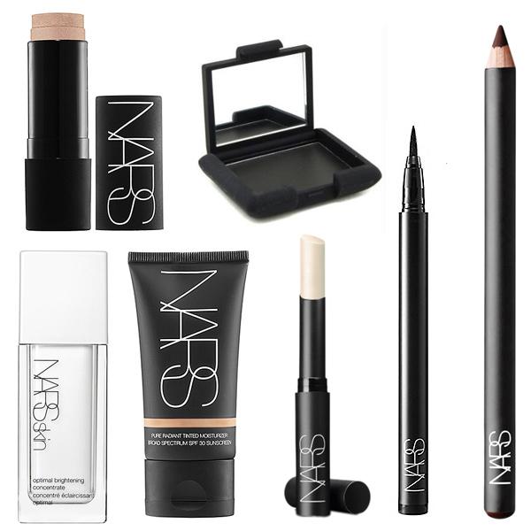 NARS Brightener, Moisturizer, Blush, Eyeshadow, Eyeliner, and Lip Treatment used in the Roland Mouret Spring/Summer 2013 Fashion Show in Paris