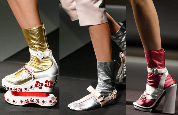 Shoes from Prada's Spring/Summer 2013 Fashion Show in Milan