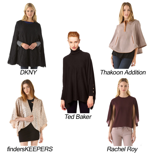 DKNY, Rachel Roy, findersKEEPERS, Ted Baker, Thakoon Addition Capes