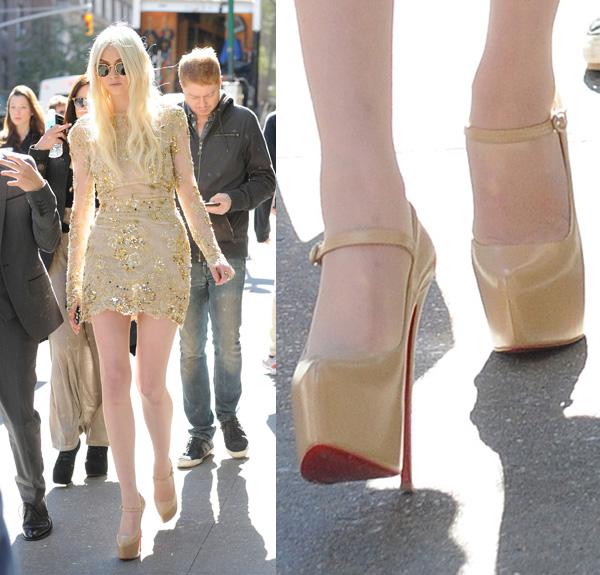 Taylor Momsen wears Christian Louboutin Platform Pumps