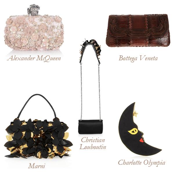 Alexander McQueen, Marni, Christian Louboutin, Charlotte Olympia, Bottega Veneta Appliquéd Bags