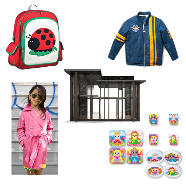 Arte Bebe Backpack, Trench Coat, Dollhouse, Jacket, Princess Plates, Bowls, and Cups