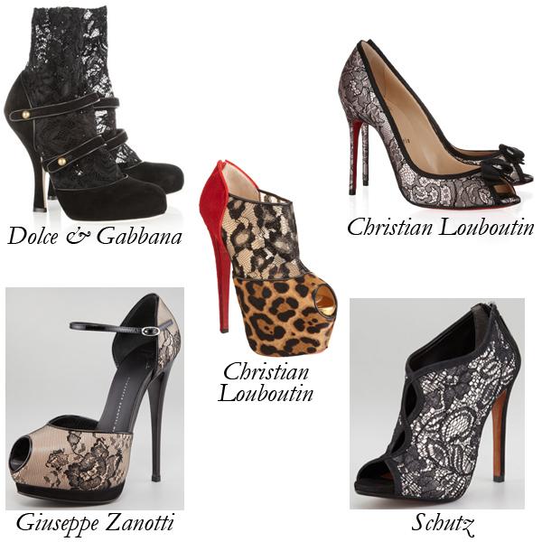 Dolce & Gabbana, Christian Louboutin, Giuseppe Zanotti, Schutz Lace Shoes