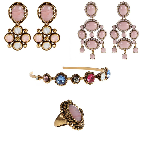 Oscar de la Renta Earrings, Headband, and Ring for National Breast Cancer Awareness Month