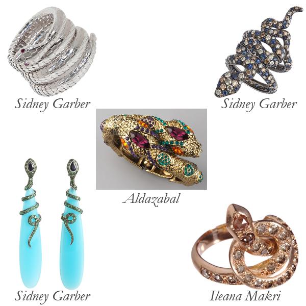 Sidney Garber, Ileana Makri, Aldazabal Snake Jewelry
