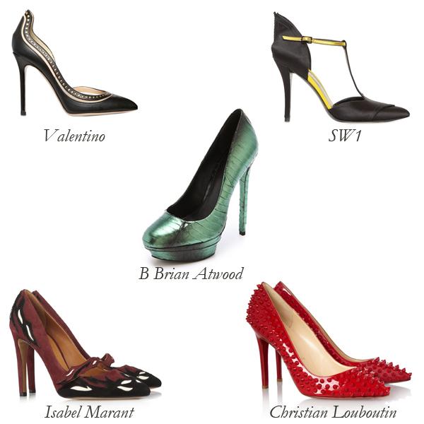 Valentino, SW1, Isabel Marant, Christian Louboutin, B Brian Atwood Embellished Pumps