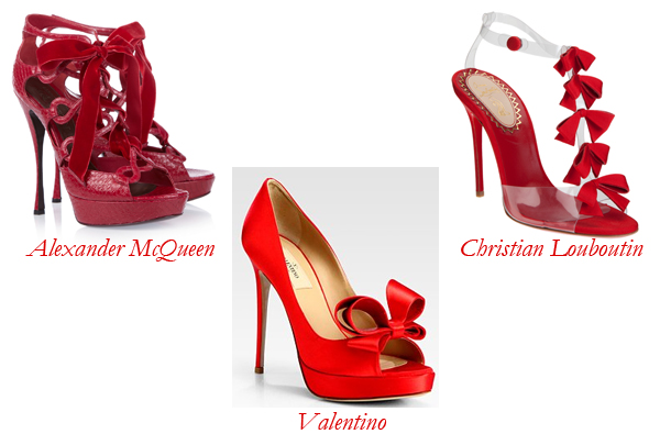 Alexander McQueen, Christian Louboutin, Valentino Ribbon Shoes