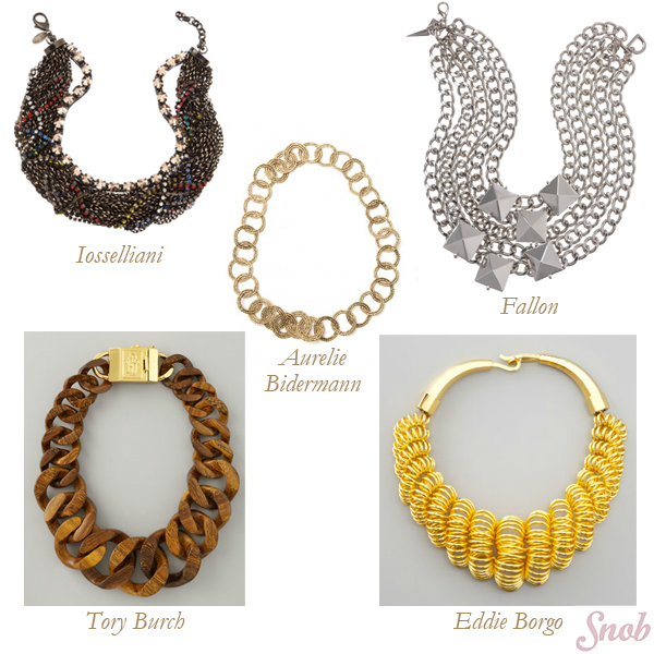 Eddie Borgo, Tory Burch, Aurelie Bidermann, Iossellani, Fallon Chunky Necklaces