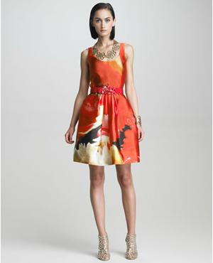 Oscar de la Renta Print Dress