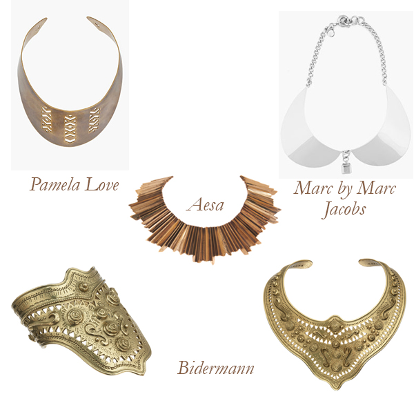 Pamela Love, Bidermann, Aesa, Marc by Marc Jacobs Breast Plate Jewelry