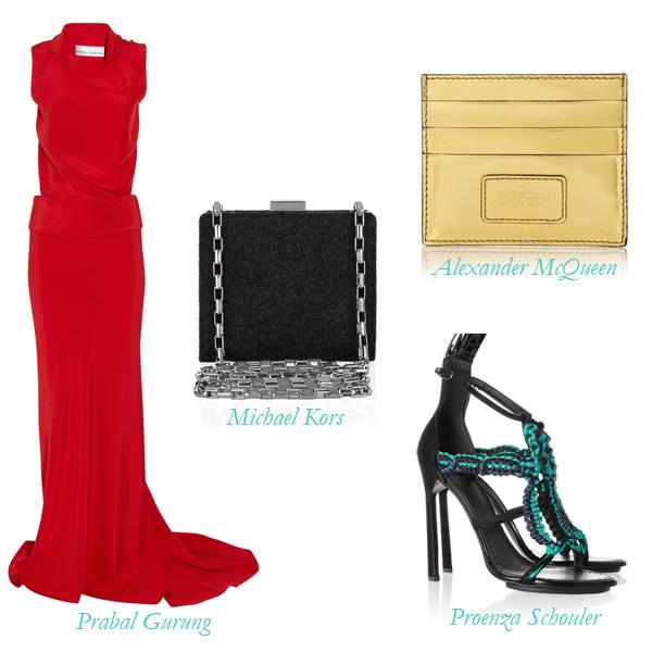Prabal Gurung Dress, Proenza Schouler Shoes, Michael Kors Bag, Alexander McQueen Wallet, The Outnet Sample Sale