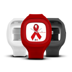 Shocking Goat HIV/AIDS Awareness Watch - Red Ribbon Set