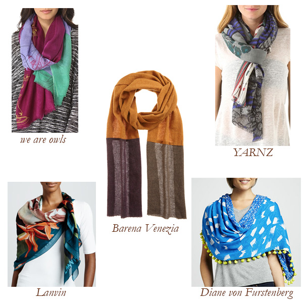 we are owls, YARNZ, Lanvin, Barena Venezia, Diane von Furstenberg Scarves