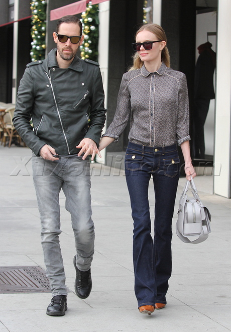 Kate Bosworth and her fiance Michael Polish slim shoppers
