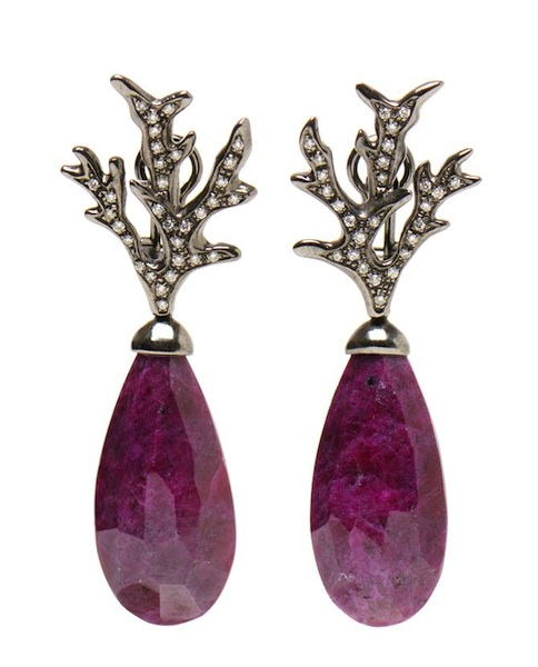 Pintaldi Maurizio Ruby Pendent Earrings