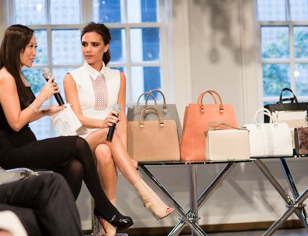 Victoria Beckham with bags