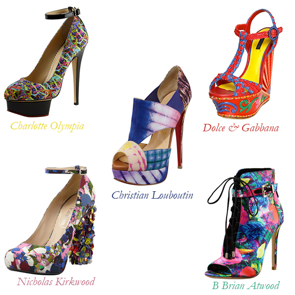 Charlotte Olympia, Dolce & Gabbana, Christian Louboutin, Nicholas Kirkwood, B Brian Atwood Colorful Heels