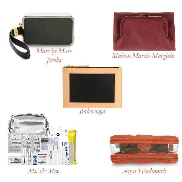 Marc by Marc Jacobs Wristlet, Maison Martin Margiela Wallet, Balenciaga Pouch, Ms. and Mrs. Mini Emergency Kit, Anya Hindmarch Travel Pouch