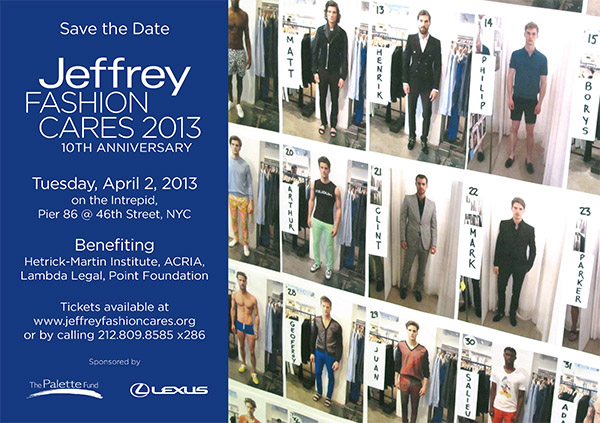 Jeffrey Fashion Cares Save The Date for USS Intrepid Show