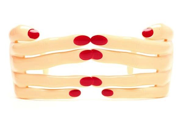Linda Farrow Wraparound Hand Glasses