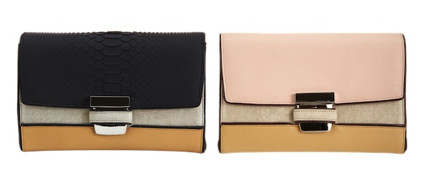Narciso Rodriguez Python Clutch