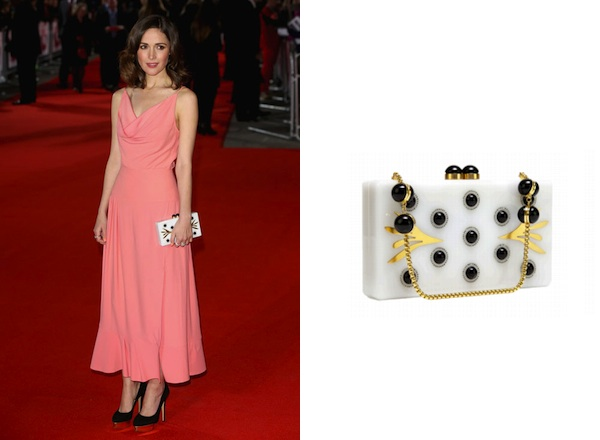 Rose Byrne x Thalé Blanc Morning Dew Clutch