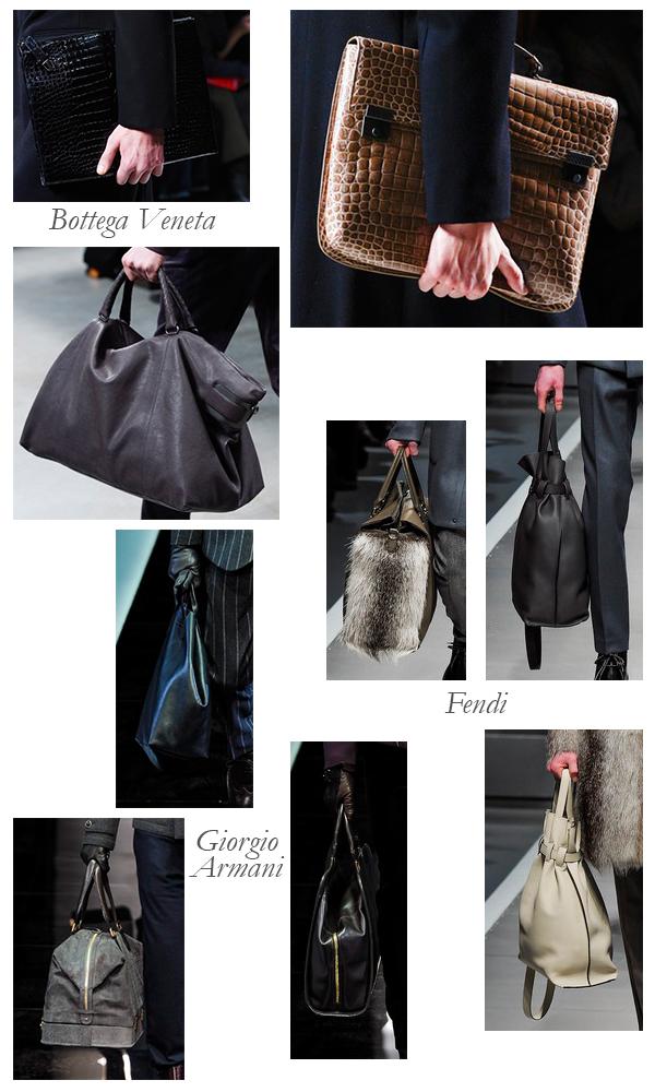 Bottega Veneta, Giorgio Armani, Fendi Fall 2013 Mens Bags