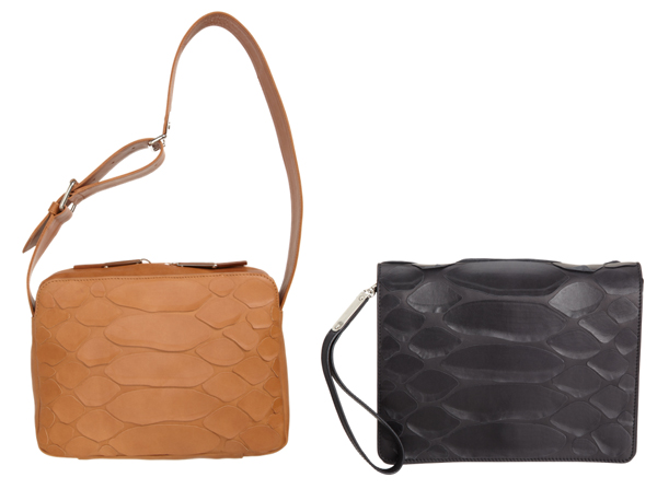 Maison Martin Margiela Snake Effect Shoulder Bag, Clutch Bag