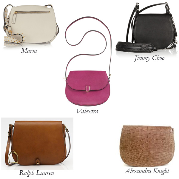 Marni, Jimmy Choo, Ralph Lauren, Alexandra Knight, Valextra Saddle Bag