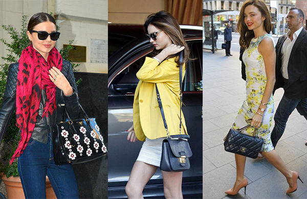 Miranda Kerr carries Prada, Miu Miu, Chanel Bags