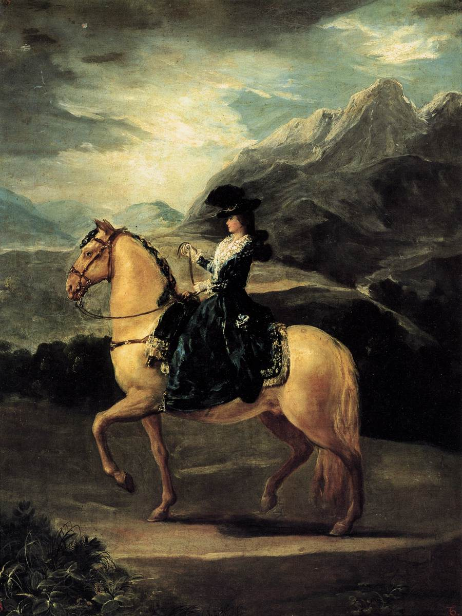 Portraid of Maria Teresa de Vallabriga on Horseback by Francesco de Goya