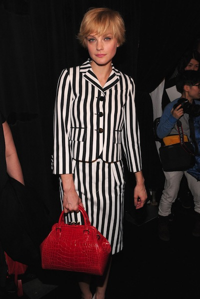 Jessica Stam with the Marc Jacobs Stam Bag