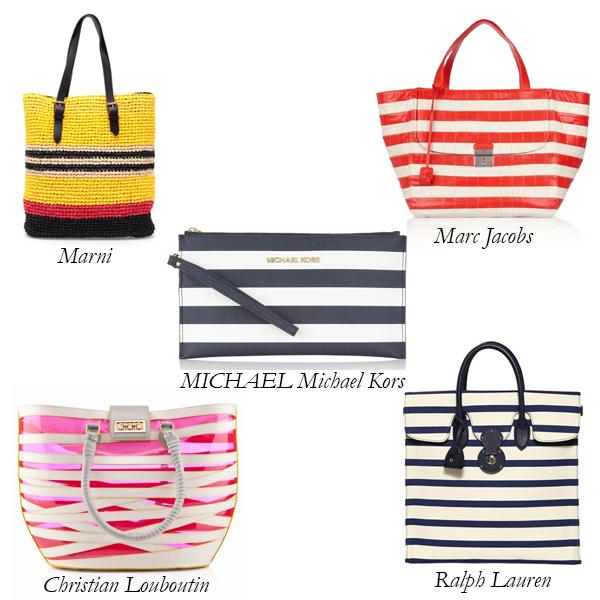 Marni, Louboutin, Ralph Lauren, Marc Jacobs, MICHAEL Michael Kors Striped Bags