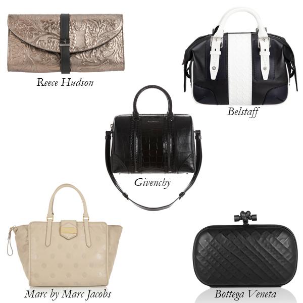 Reece Hudson, Marc by Marc Jacobs, Bottega Veneta, Givenchy, Belstaff Embossed Bags