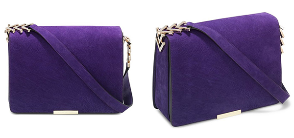 Victoria Beckham Purple Vlink Chain Shoulder Bag