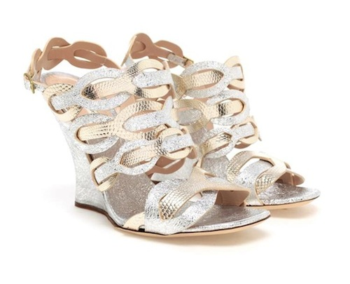 Dries van Noten Interwoven Metallic Wedges