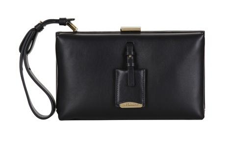 Jil Sander Nencini Leather Box Clutch