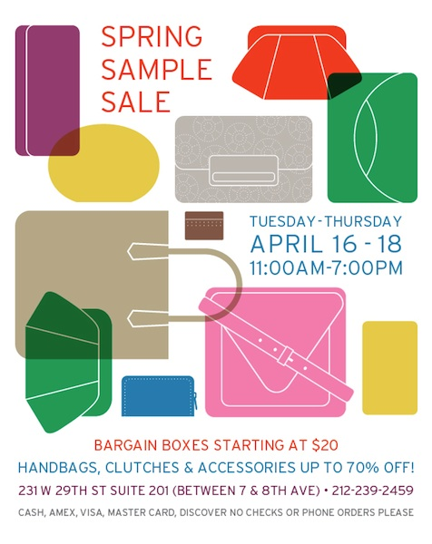 Lauren Merkin Spring Sample Sale!