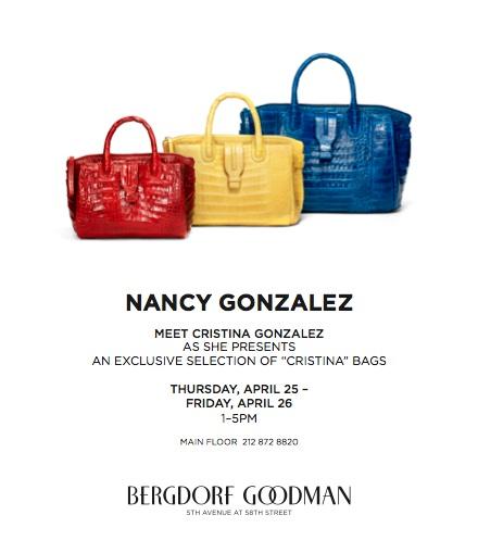 Nancy Gonzalez Crocodile Cristina Bag