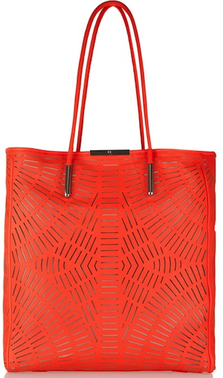 McQ Alexander McQueen Shopper Cutout Leather Tote