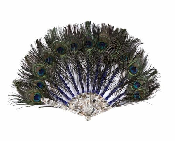 Duvelleroy Peacock Feather Fan
