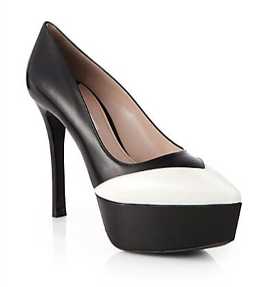 Miu Miu Leather Platform Pumps