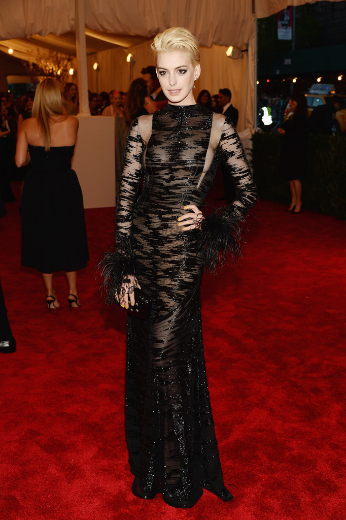 Anne Hathaway in Valentino at the Met Gala