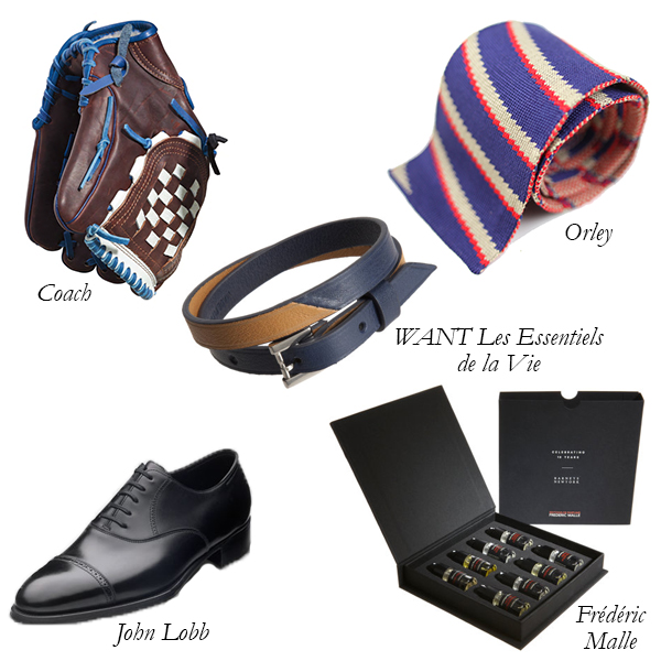 Coach Baseball Glove, Orley Tie, John Lobb Oxford Shoes, WANT Les Essentiels de la Vie, Frédéric Malle, Father's Day Gifts