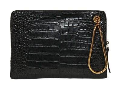 Lanvin Crocodile Printed Clutch